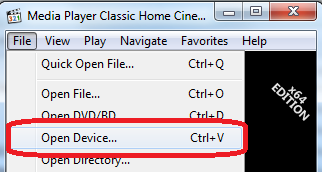 Media Player Classic Open Device