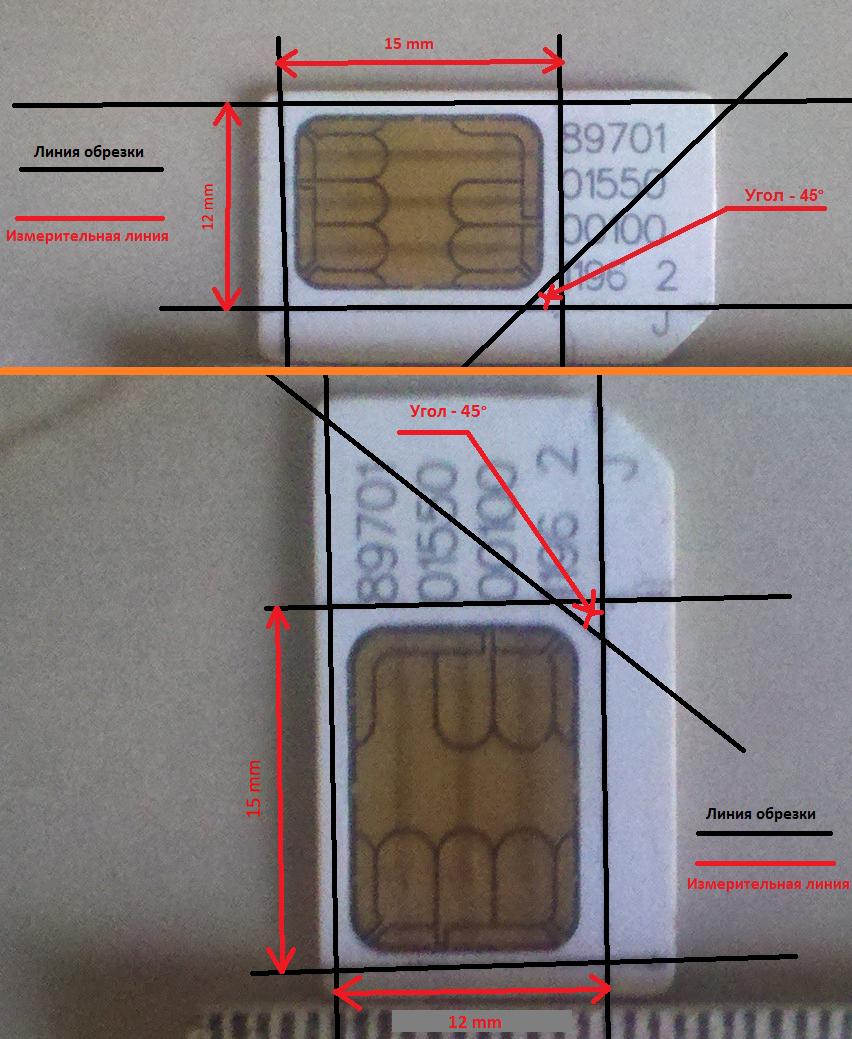 Как сделать наносимку из микросимки